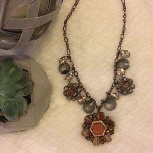 Loft flower statement necklace